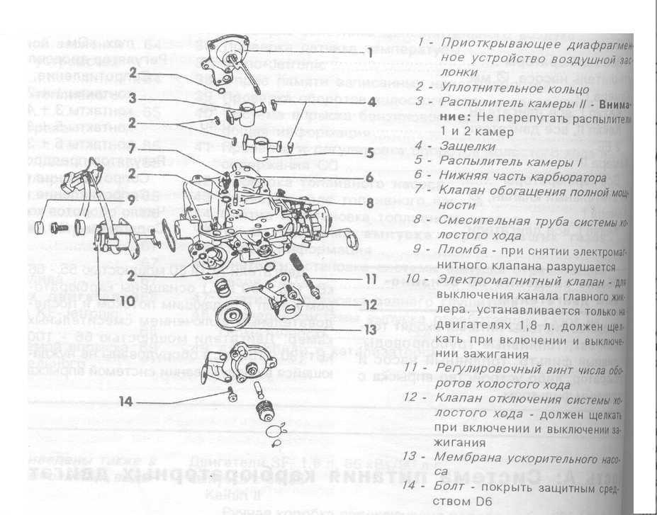Схема карбюратор ауди 80 1.8